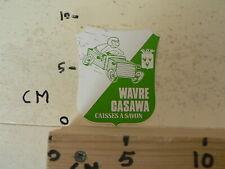 STICKER,DECAL WAVRE CASAWA CAISSES A SAVON ZEEPKISTEN RACE  CAR AUTO