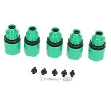 5x Water Tubing Pipe Adapters Connector Garden Patio Drip Irrigation System Tool