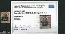 Landespost Belgien 50 Centimes Germania 1914** Michel 5 I Befund (S8996)