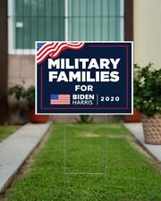 Military Families For Biden Harris 2020 Yard Sign, Political President Vote Sign
