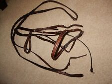 Vintage Authentic Courbette English Horse Bridle With Laced Reins