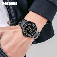 SKMEI Mens Sport Digital Wristwatch 2 Time Luminous LED Watch Waterproof 1712 5