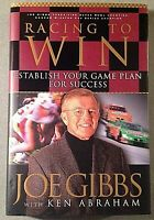 Racing to Win Signed by Joe Gibbs Autographed Hardback HOF Redskins Coach Auto