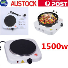 1500W Portable Single Electric Hot Plate Cooker Hotplate Stove Home Caravan AU