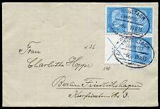 Deutsches Reich 1933 Brief S 40 Zusammendruck Hindenburg Bahnpost nach Berlin