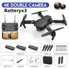 4K HD Kamera Drohne Selfie Quadrocopter 3D Flips FPV RC Faltbar Drone 3 Akkus