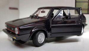 1:24 Echelle 1979 Mark 1 Mk1 Noir VW Golf Gti Détaillé Burago Voiture Miniature
