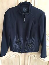 Tribal Black Embellished Fully Lined Jacket NWT Size 10  Org. $135