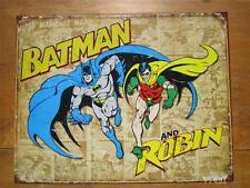 Batman & Robin Super Hero Comic Book Dark Knight Caped Crusader Tin Sign Poster