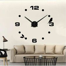 Digital 3d Large Size Wall Clock Self Adhesive Modern Style As Birthday Gifts