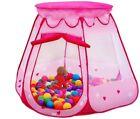 Princess Kids Girls Toddler Indoor Outdoor Pretend Play House Castle Tent Pink
