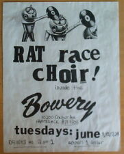 Vintage rock poster Rat Race Choir - Bowery, Detroit