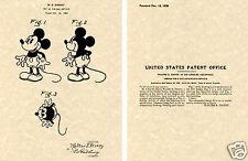 MICKEY MOUSE PATENT Art Print READY TO FRAME!! Walt Disney Cartoon Micky 1930
