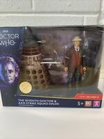 Doctor Who The Seventh Doctor and Axis Strike Squad Dalek Action Figure Set