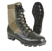 """Rothco  Military Leather 8"""" Jungle Boot Olive Drab Color With Vent Holes 5080"""