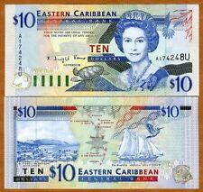 Eastern East Caribbean, $10 (1994) Anguilla, P-32u, UNC > Scarce