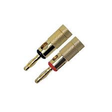 Gold Banana Plug Jack Speaker Connectors Binding Post One Pair Red/Black