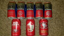 New listing 8 San Fran 49Ers Super Bowl collectible Bud Light football beer cans Trey Lance