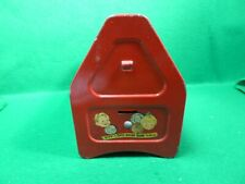 VINTAGE AMSCO SHU-SHINE BANK FOR KIDDIES TOY PRESSED STEEL SHOE BOX