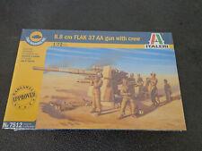 Italeri 1/72 #7512 1/72 8.8 cm Flak 37 Aa Gun w/Crew -New Sealed