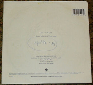 """MADONNA LIKE A PRAYER ACT OF CONTRITION 7"""" VINYL MADE IN ITALY 45 giri/rpm RARE"""