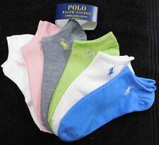 F3 Polo Ralph Lauren Mixed Color Women's Flat Knit Ultra Low-Cut Socks - 9-11