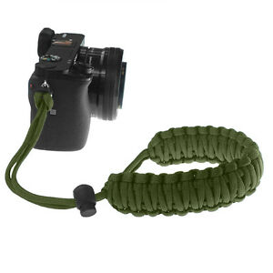 Braided 550 Paracord Adjustable Camera Wrist Strap Bracelet f DSLR (Olive Drab)
