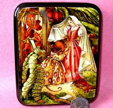 RUSSIAN LACQUER Box Hand Painted Thumbelina Bride Mouse Barbara Freeman