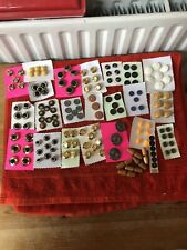 17 Cards Of Vintage  Buttons Toggles