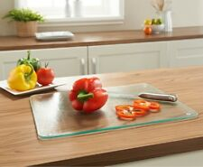 Tempered Glass Chopping Board Workspace Protect Cutting Worktop Placemat Mat