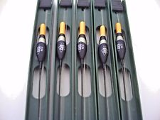 5 x Pro Team Carp Silver Fish Pole Rigs. (10)  4x12 Float. Size 18 Barbless Hook