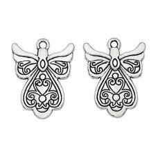 10Pcs Antique Silver Angel Charm Pendant Jewelry Making Bracelet Findings