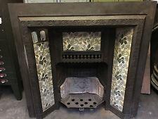 Original Reclaimed Antique Cast Iron tiled fireplace WEST YORKSHIRE