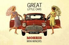 VINTAGE 1960'S MORRIS MINI MINOR ADVERTISING A3 POSTER RE PRINT