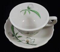 Vintage Syracuse China Park Lane Cup & Saucer - Restaurant Ware PinkWhite Floral