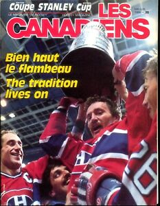 1 -  81/2  x 11  Yearbook on the 1986 Stanley Cup Champion Montreal Canadiens