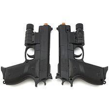 2 PC AIRSOFT TACTICAL SPRING PISTOL HAND GUN LASER SIGHT FLASHLIGHT 6mm BBs BB
