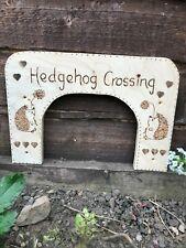 More details for hedgehog crossing highway for garden fence or gate