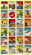 TCHAD- série complete: médailles d'or des J.O  Mexico 68   K6/24
