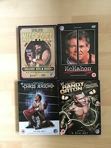 WWE SUPERSTAR DVD SET COLLECTION WWF WRESTLING JERICHO MCMAHON ORTON FOLEY