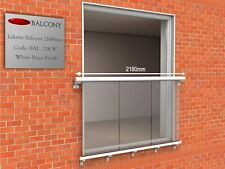 Modern Glass Juliet Balcony Various sizes from 1.28m to 2.84m sizes available