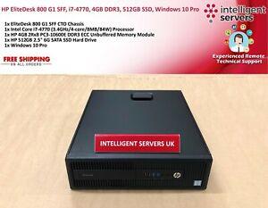 HP EliteDesk 800 G1 SFF, i7-4770, 4GB DDR3, 512GB SSD, Windows 10 Pro