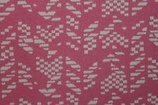 Poly Lycra Aztèque Jacquard stretch drap robe tissu matériau (Barbie Rose)