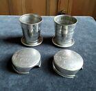 Vintage Folding/Nesting/Collapsible Pocket Cup, Set of 2