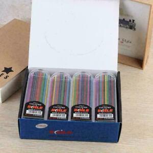 12 Pcs Color Pencil Refill Multi Colored Pencil Assorted E2H6 Set C5A2 2mm A8F7