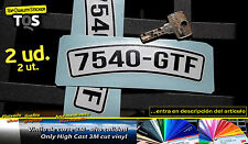 Vespa matricula pegatina plate sticker decal aufkleber 3M 50 adesivi autocollant