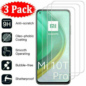 For Xiaomi Mi 10T Pro 9T A3 A2 A1 8 9 Lite 3Pcs Tempered Glass Screen Protector