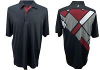 Ping Men's Golf Polo Shirt Size Medium Black Red Performance Top Pre-Owned