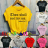 Women Fashion O-Neck Letter Print Short Sleeve T-Shirt Top Blouses Casual Tee US