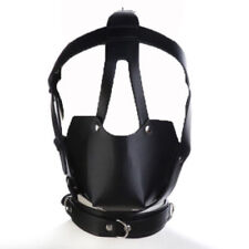 PU leather head Harness Hood Mask Mouth Ball Gag Restraints